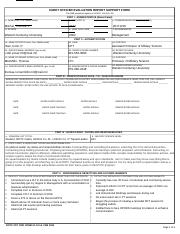 Support Form DA Form 67 10 1A - Fillable DA Form 67-10-1A ...