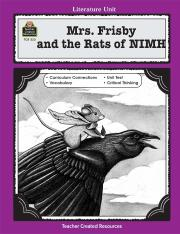 A Guide for Using Mrs. Frisby and the Rats of NIMH in the Classroom Standard E-book