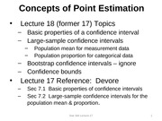 Stat 344 Lecture 18 (17), Confidence Intervals for mean and proportion