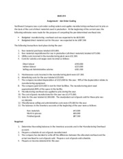 Assignment - Job-order costing(2)