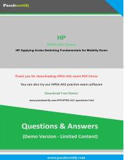 HPE6-A41 HP Applying Aruba Switching Fundamentals for