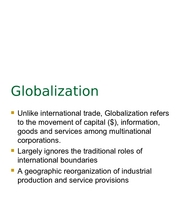 3 Globalization notes