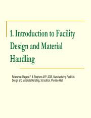 Design handling material facilities and pdf manufacturing