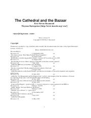 Bazaar cathedral and pdf the