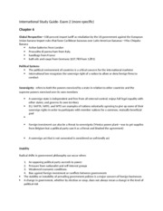 International Study Guide Exam 2- More specific