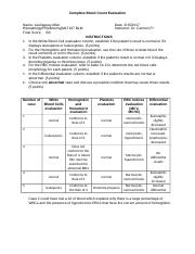 Hematology Module 5 CBC_Evaluation_Worksheet