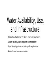 Lecture 5 - 9:20:16 - Water Availability... - Slides w Notes.pptx