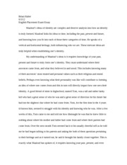 English Placement Exam Essay