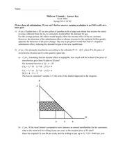Intermediate microeconomics exam 2
