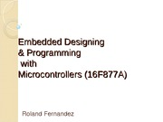Microcontrollers PIC 16F877
