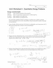 quantitative_heat_problems_answers - Name Date Pd Unit 3 Worksheet 3 ...