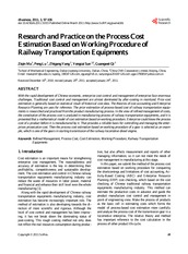 Research and Practice on the Process Cost Estimation Based on Working Procedure of Railway Transport