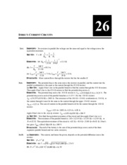 Physics 7D: chapter 26 homework solutions (McWilliams)