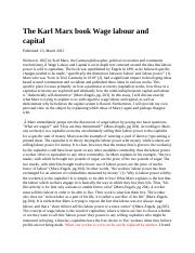 The Karl Marx book Wage labour and capital.docx