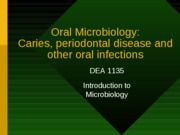 Micro Lesson 8 Oral microbiology