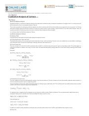 qualitative analysis of cations lab report discussion