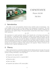 Capacitance Manual