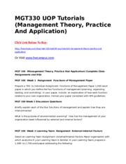 mgt 538 complete class Mgt 5100 id distribution management  isbn: 13 978-0-538-47918-9 back to  participate in and complete a class project that simulates physical distribution.