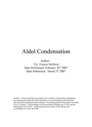 Aldol Condensation lab