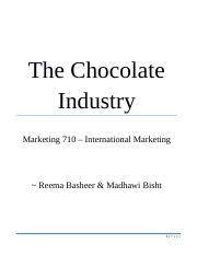 The Chocolate Industry.docx
