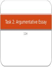 review of argument essay format