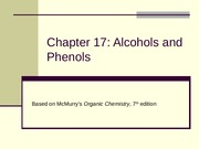 17. Alcohols and Phenols