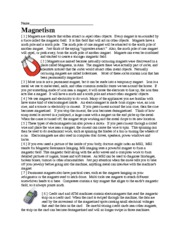 Magnetism Article-Qu
