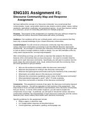ENG101 Discourse Community w-examples.doc