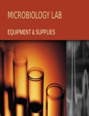 MICRO LAB EQUIPMENT & SUPPLIES BIOL 107.ppt