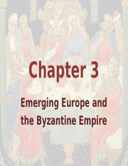 Chapter 3 Europe and the Byzantine Empire (1)