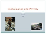 SOC135 - 6 - Globalization and Poverty