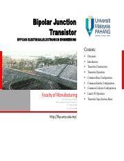 Lecture-05_Bipolar Junction Transistor