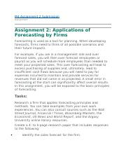 Applications of Forecasting by Firms.WK4.docx