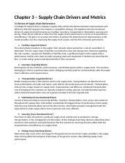 Supply Chain Management - Chapter 3.docx