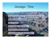 Oct 16- Geologic time