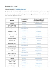 Chemistry Classifying Matter Worksheet Key Breadandhearth ...