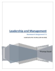 Leadership and Management HW 1