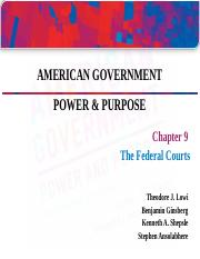 Lowi13_Lecture_ch09Federal Courts.ppt