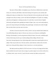 Honors 101 Personal Reflection Essay.docx