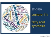 2015 - BCH3120 - Lecture 11-S