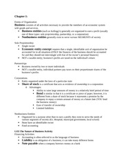Introductory Accounting Notes