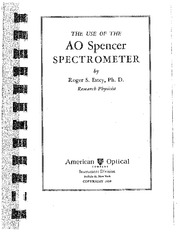 AO Spencer Spectrometer User Manual