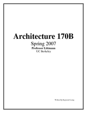 Arch 170B Notes