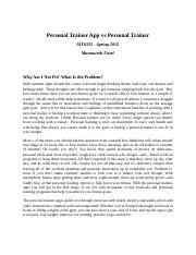 IST6335 - Personal Trainer App vs Personal Trainer-Report.docx