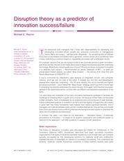 Disruption Theory as a Predictor of Innovation Success:Failure