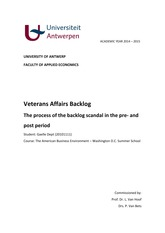 Veteran affairs backlog - Gaelle Dept