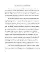 The journey essay