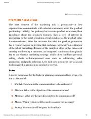 Framework for Marketing Strategy Formation page 16