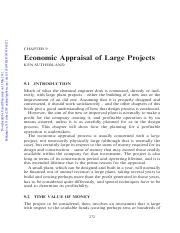 ChE 4 chemists_Chapt 9_economic appraisal of large projects