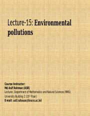 Lecture 15 Environmental Pollutions.ppt